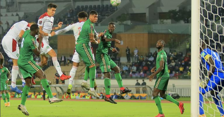 تصفيات مونديال 2022 :  المنتخب المغربي يفوز على غينيا بيساو بثلاثية