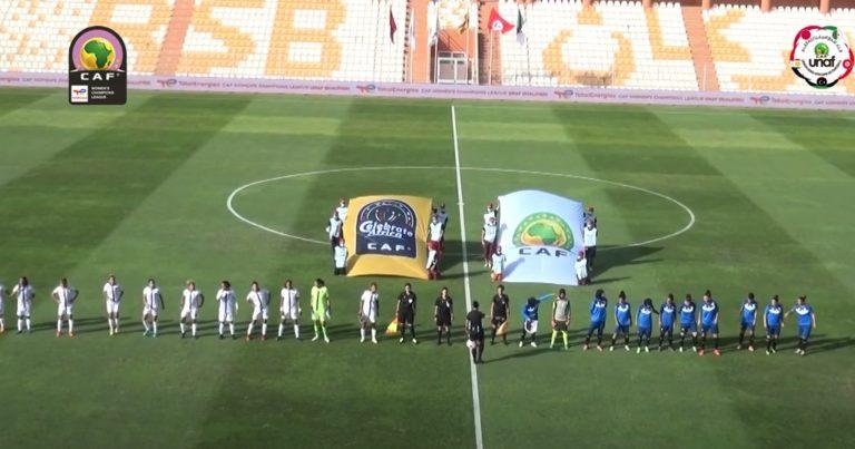 ملخص مباراة الجيش الملكي المغربي وافاق غليزان الجزائري لحساب الجولة الثانية من تصفيات دوري أبطال أفريقيا للأندية النسائية