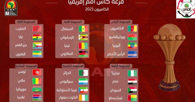 قرعة نهائيات كأس إفريقيا للأمم الكامرون 2021 :  ماذا عن منافسي منتخبات شمال إفريقيا ؟